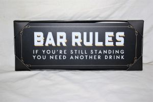 Brewmaster Wooden Plaque Bar Rules HM261